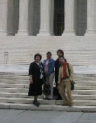 Fellows and faculty on Steps of Supreme Court