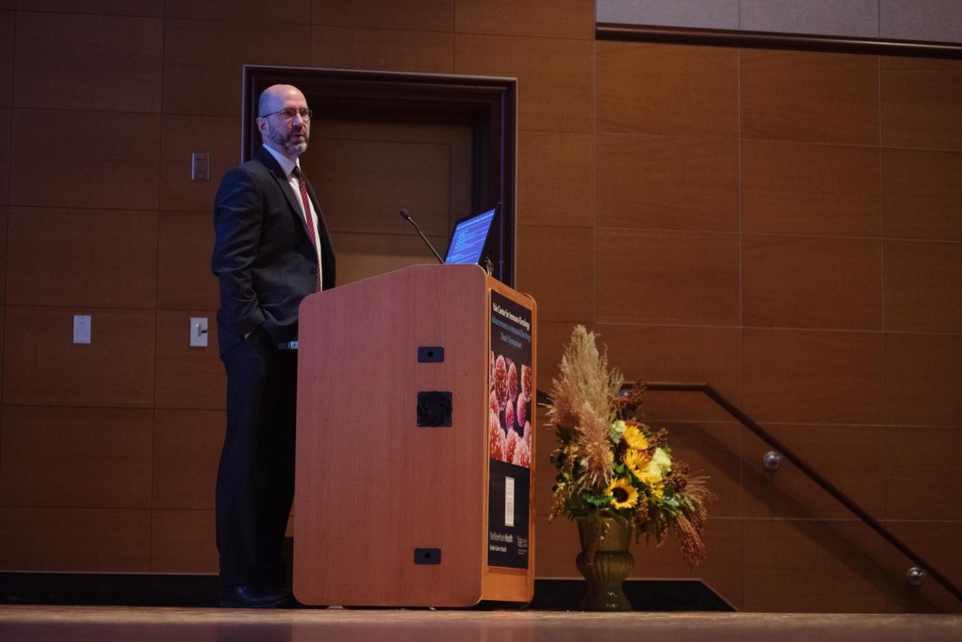 marcus bosenberg at podium speaking