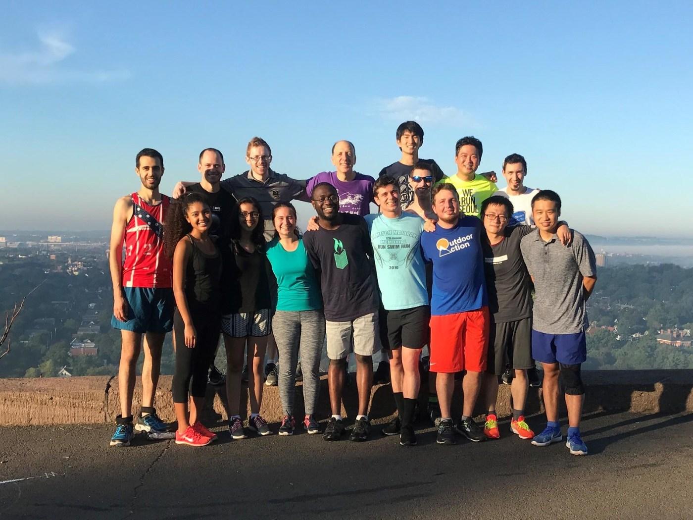 Lab Run to East Rock Summit 2017