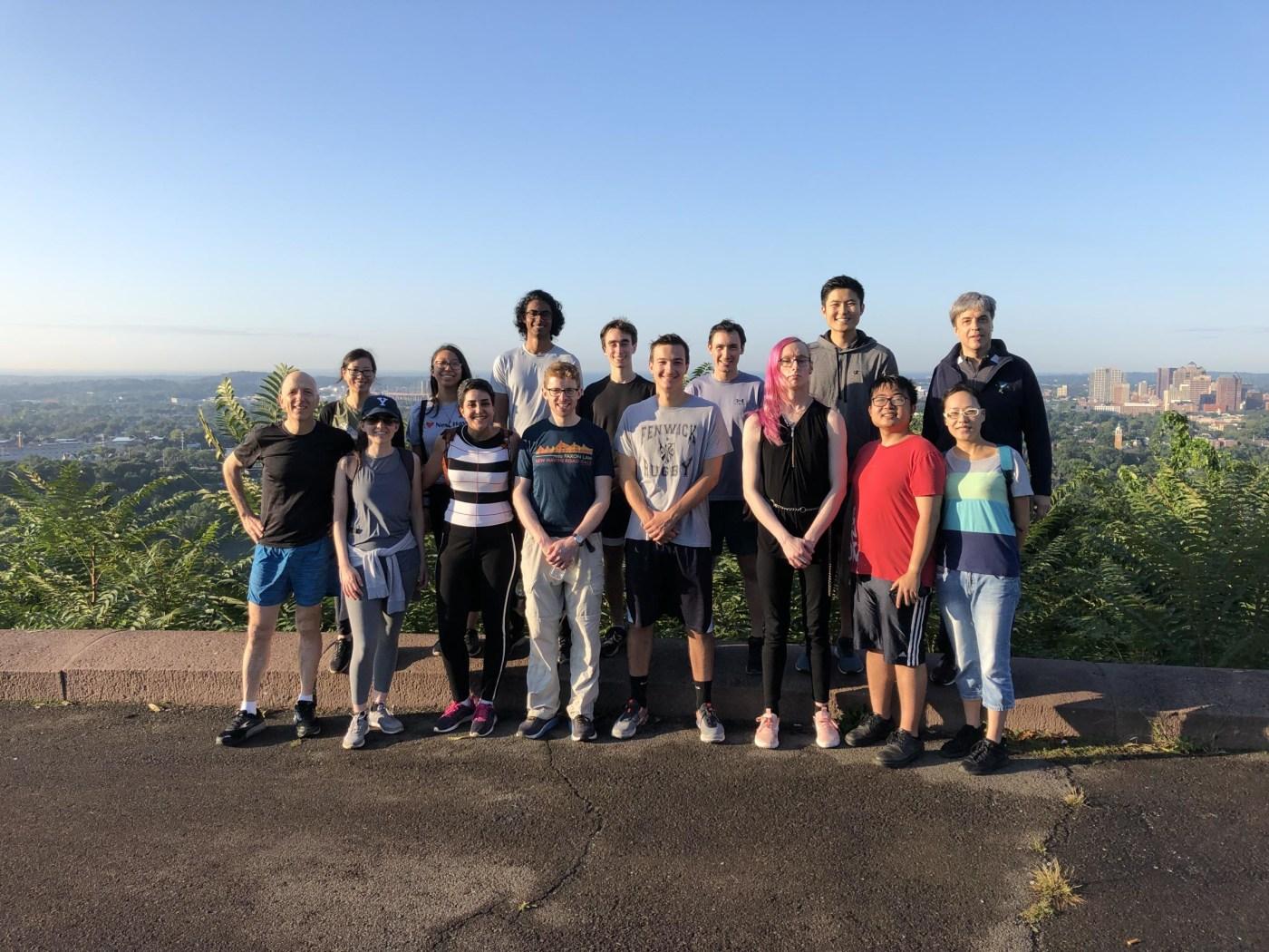 Lab Run to East Rock Summit 2019