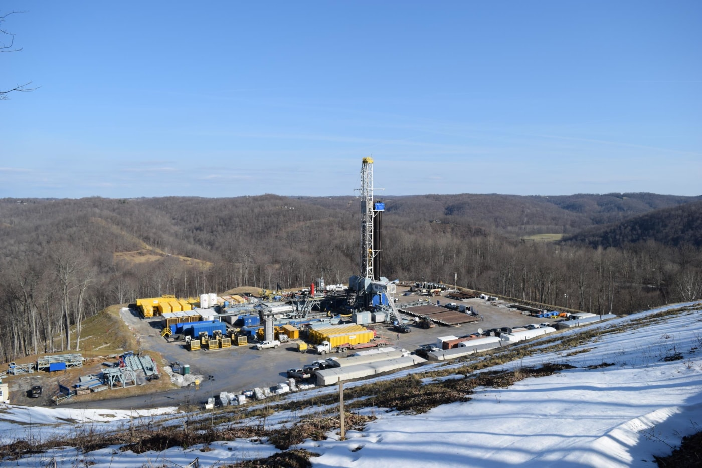 Natural gas well pad