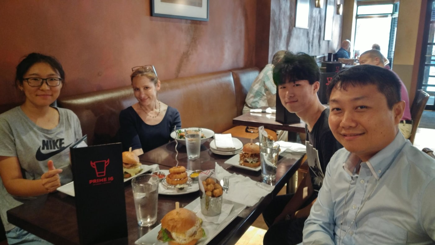 Welcome Lunch for Na and Fan