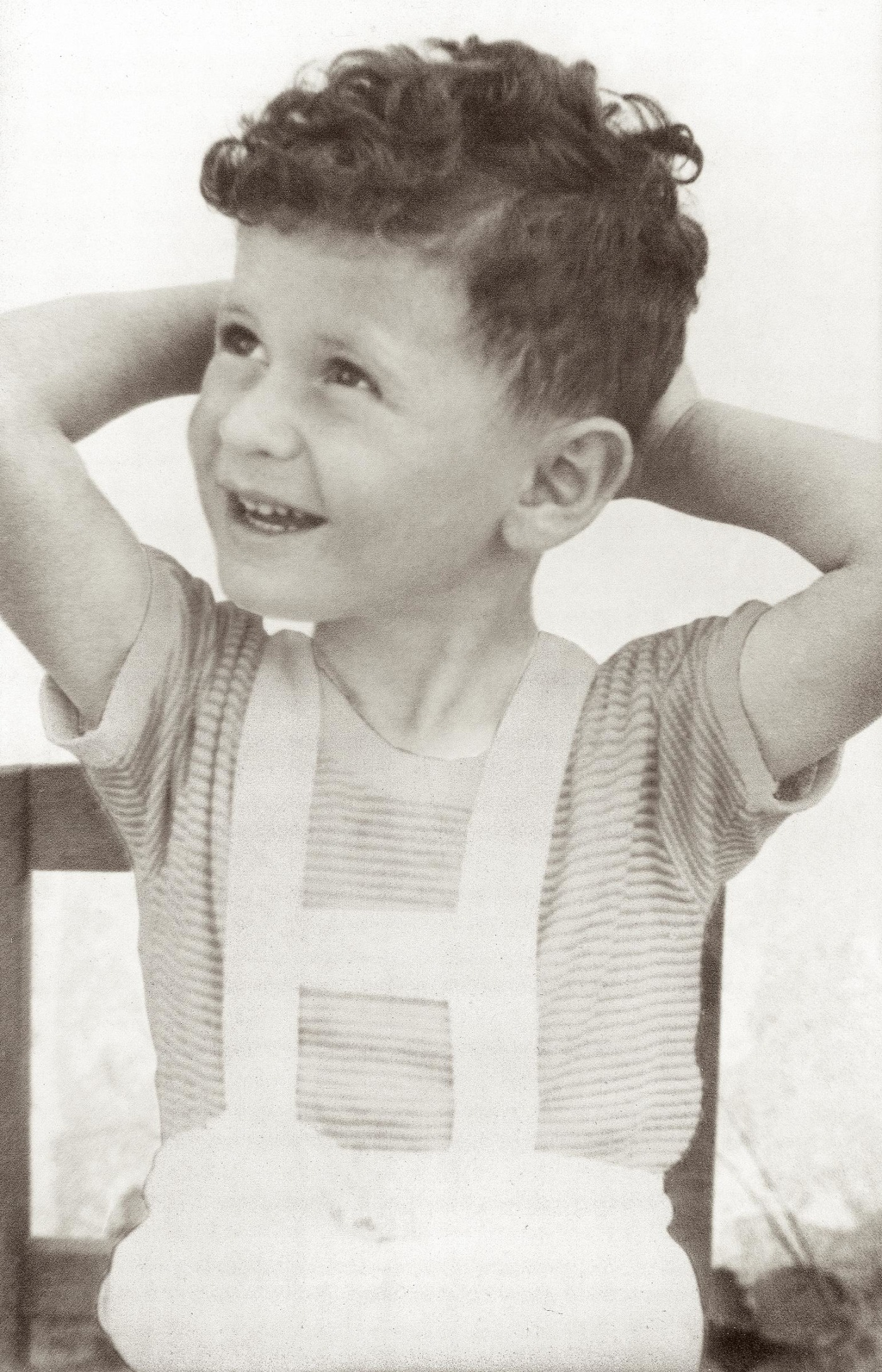Schlessinger as a young boy