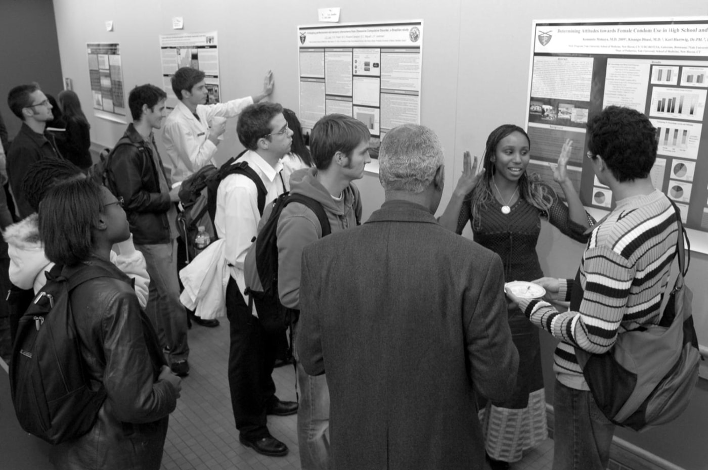 The 2006 Downs International Health Student Travel Fellows reported on their health research and findings in October, in posters and oral presentations.