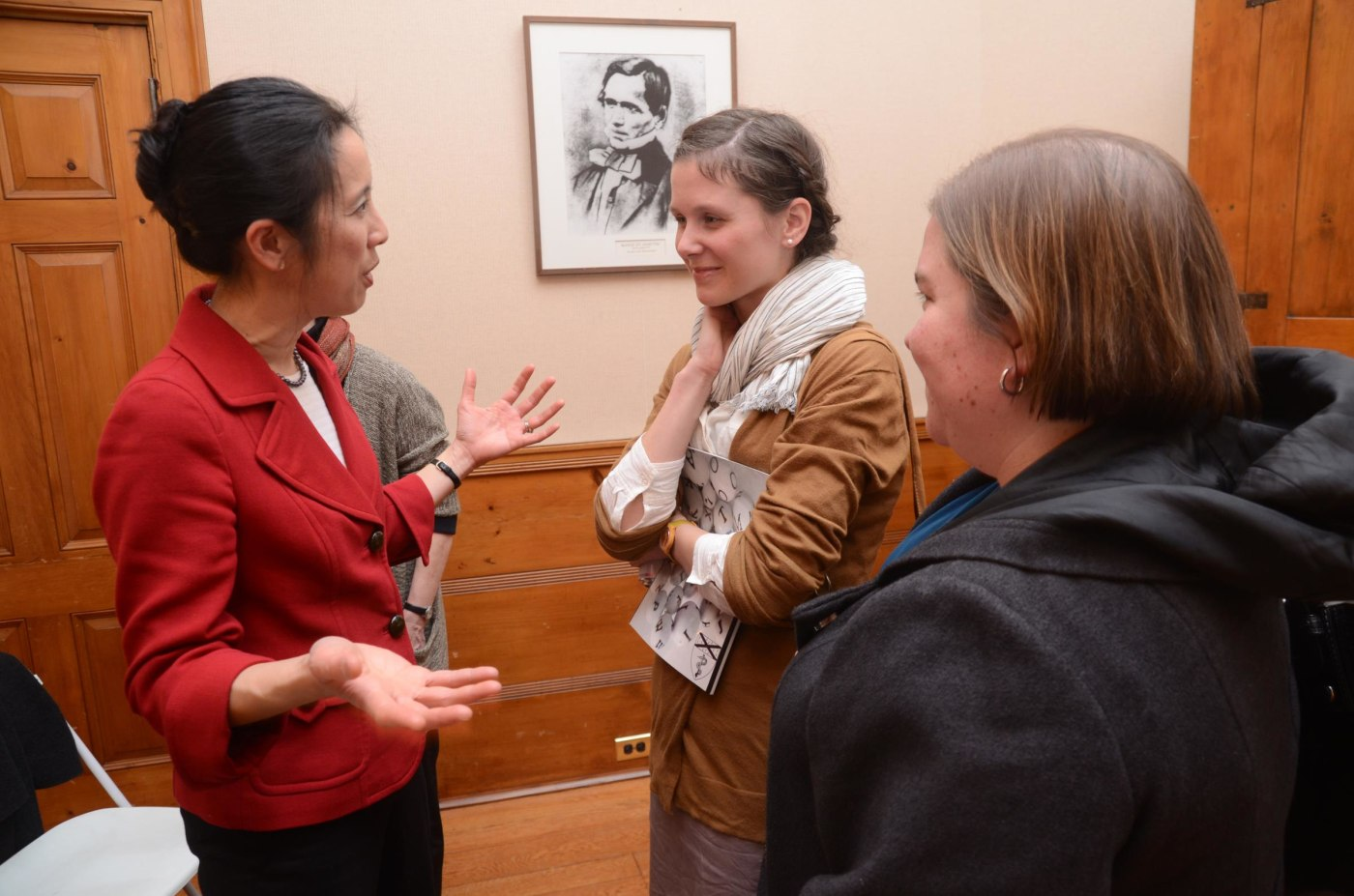 Pauline Chen talked about writing with residents Nora Segar and Allison Arwady