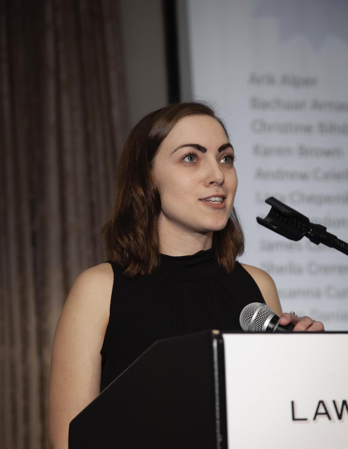 Caitlin Simons, YSN student speaker