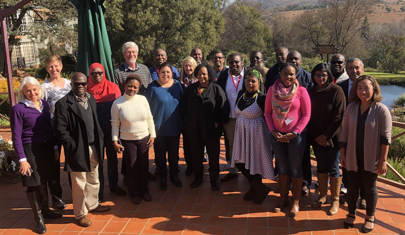 The inaugural cohort of Clayton-Dedoner Fellows at the recent launch with Aurum Institute and Wits University in South Africa. The program focuses on research mentorship and leadership to support the South Africa surge in HIV/TB treatment and prevention.