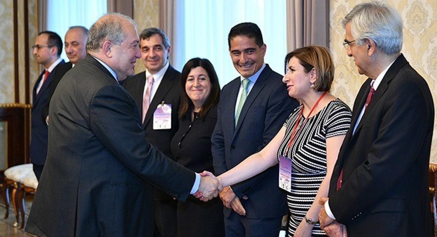 As part of delegation of Diasporan doctors, Dr. Chekijian meets with Armenian President Sarkissian