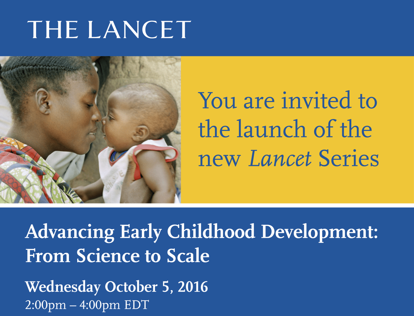 The New Lancet Series: World Bank Global Launch Invitation