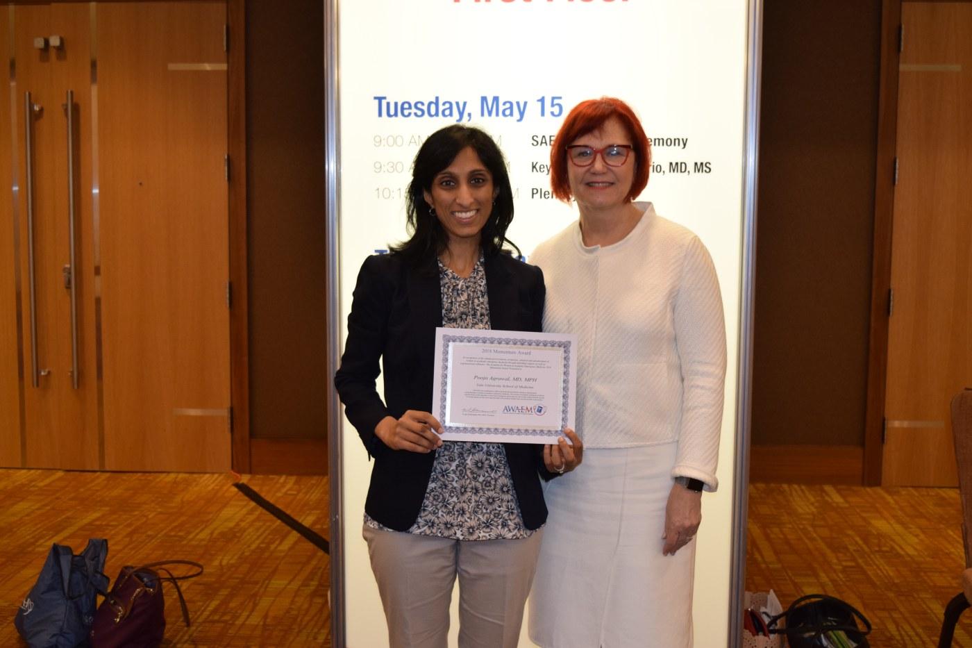 2018 Momentum Award from AWAEM Recipient