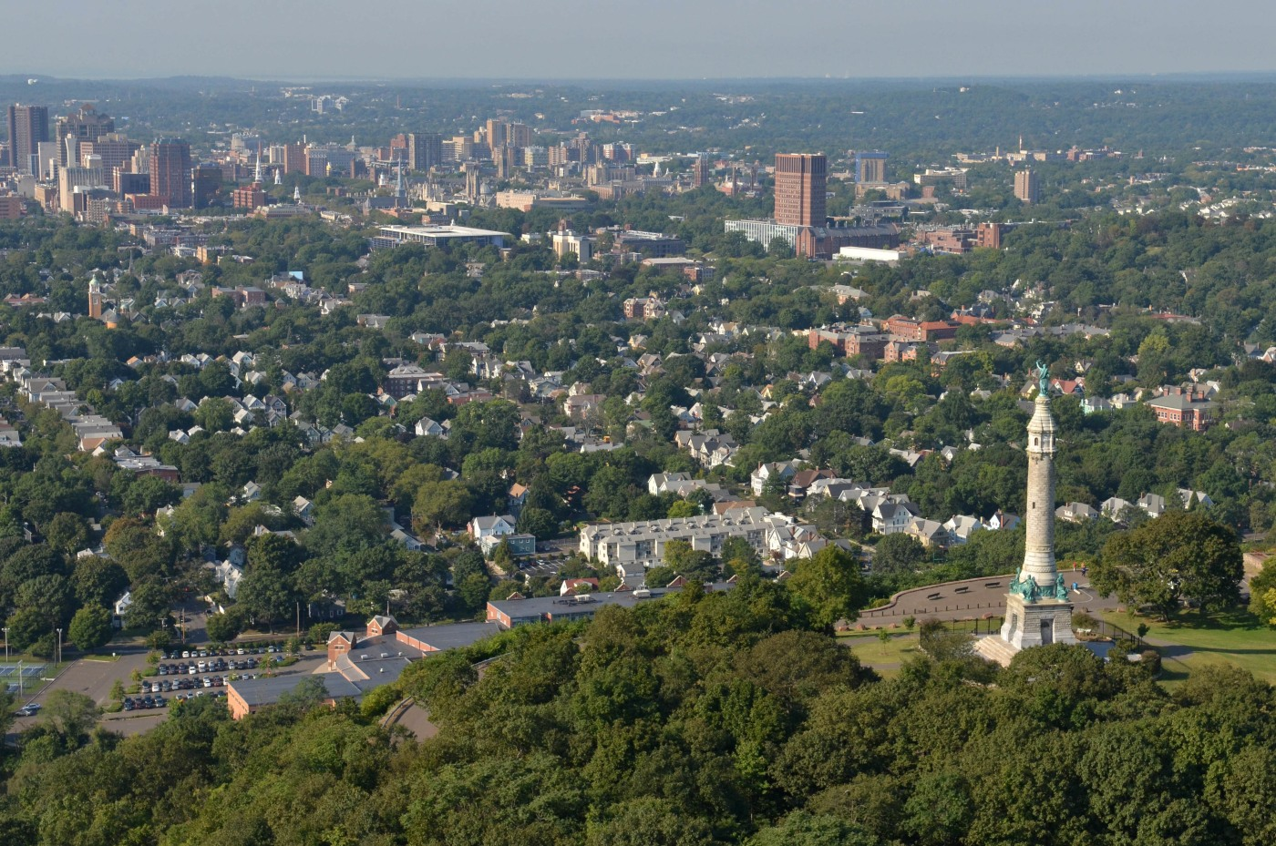 Aerial view of New Haven, CT