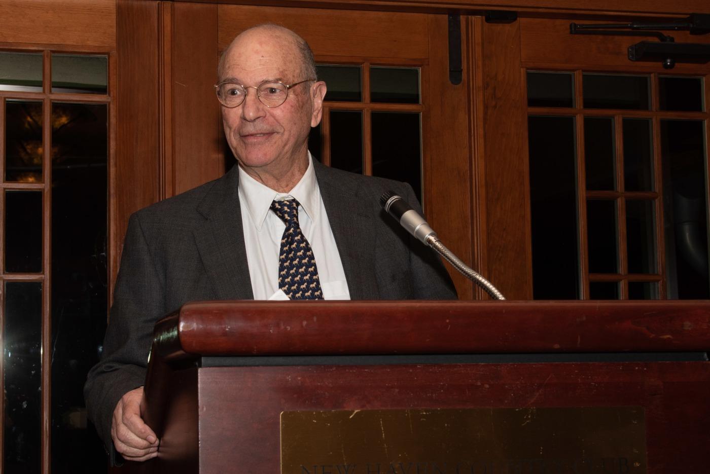 Dr. George Miller accepts the Lifetime Achievement Award