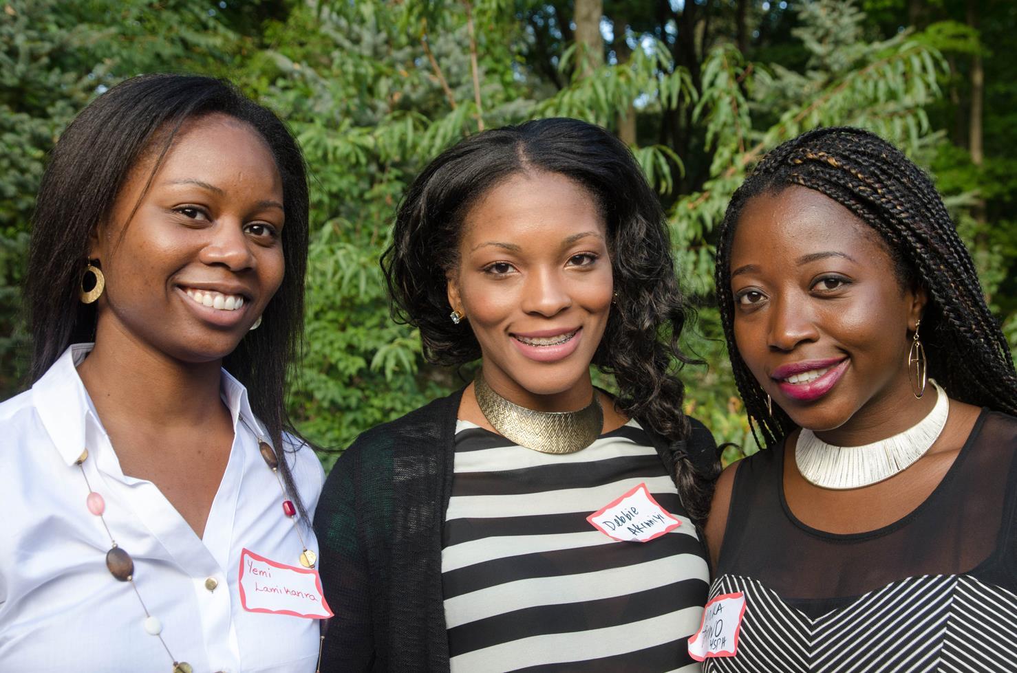 Yemi Lamikanra, a resident in orthopaedics; Deborah Akinniyi, a resident in internal medicine; and Yinka Taiwo, a student in public health.