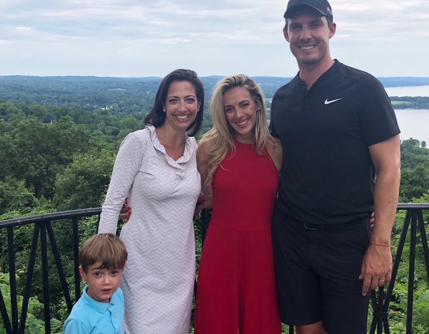 PGA golfer Jamie Lovemark and his wife Tiva, with Dr. Moliterno and her son Aydin Günel
