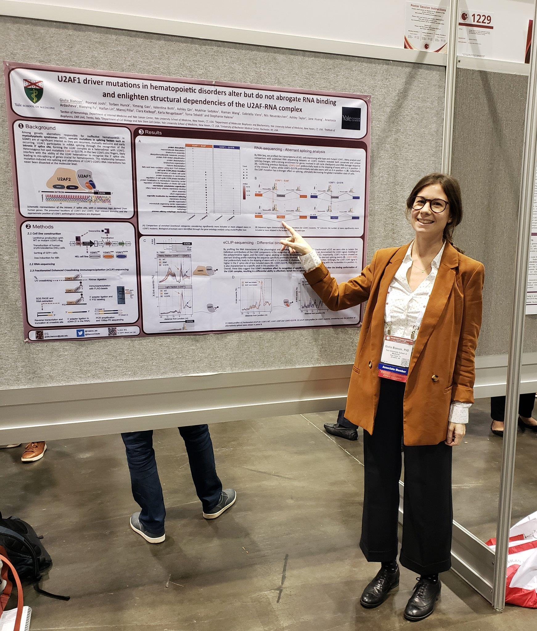 Giulia's poster presentation at ASH2019