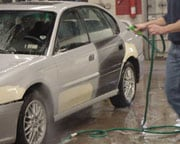 Clean cars with water instead of solvent, as much as possible.