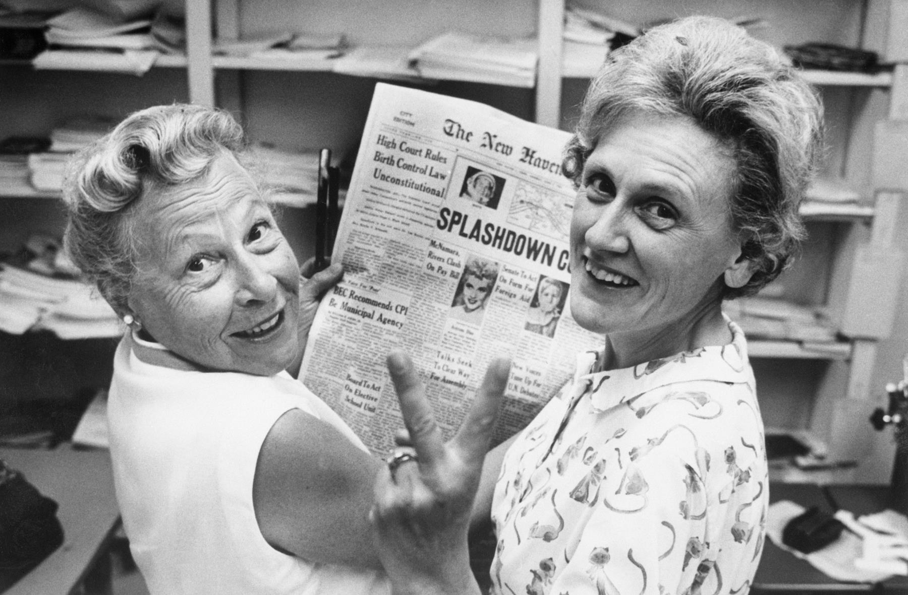 On June 7, 1965, Estelle Griswold and Cornelia Jahncke of the Planned Parenthood League of Connecticut, celebrated a decision by the U.S. Supreme Court that struck down the state's law banning the use of birth control.