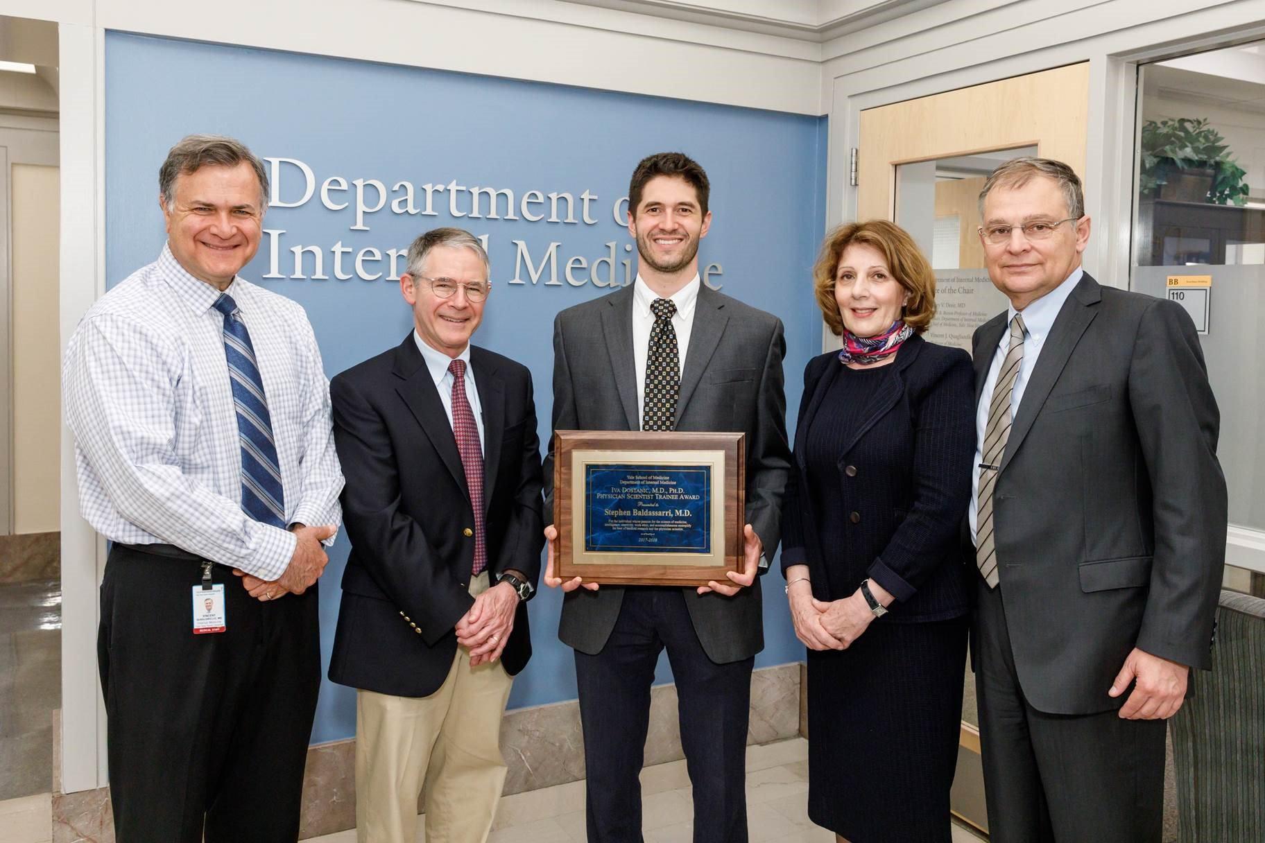 Stephen Baldassarri receives Iva Dostanic, MD, PhD, Physician-Scientist Trainee Award