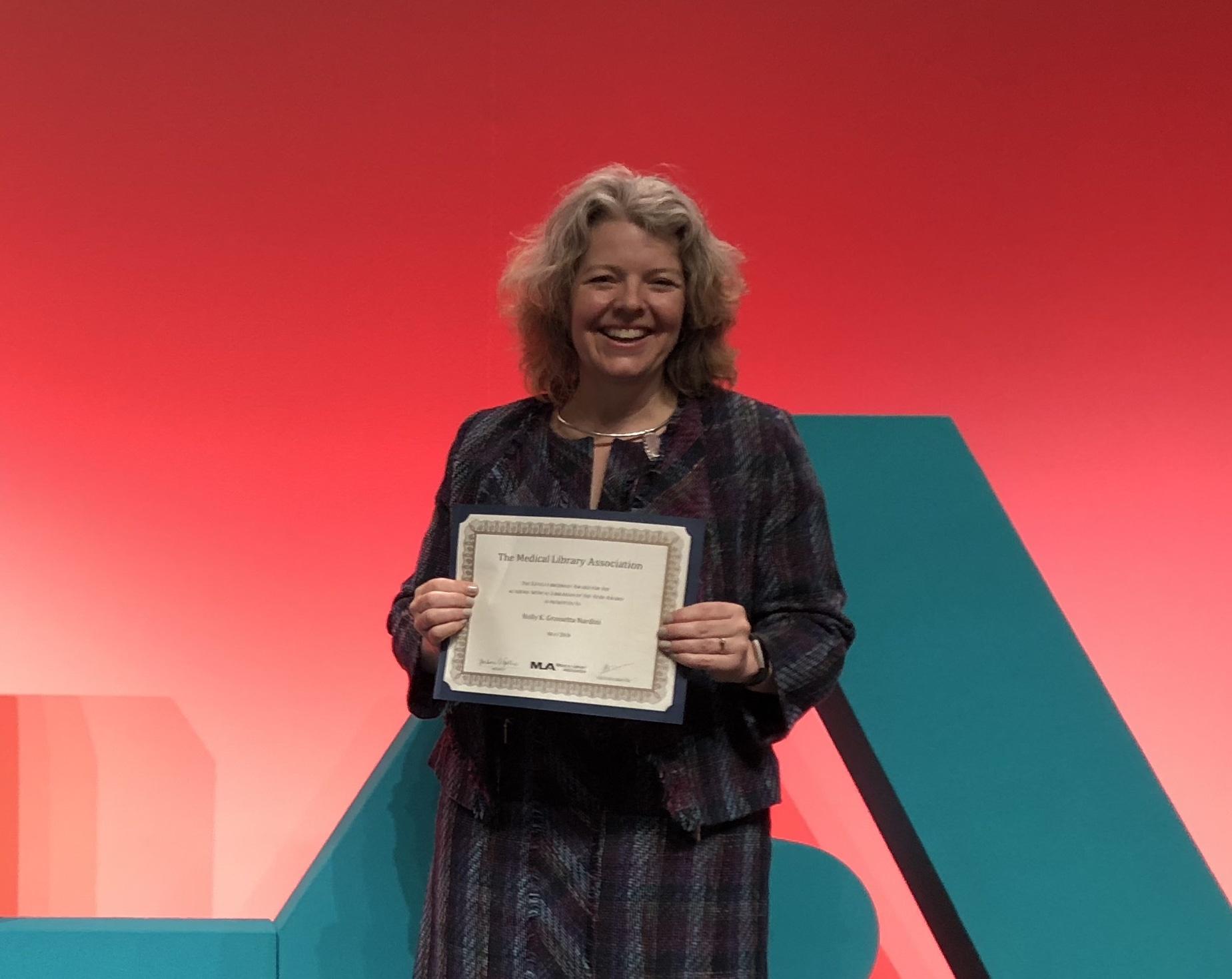 Holly Grossetta Nardini at Award Ceremony