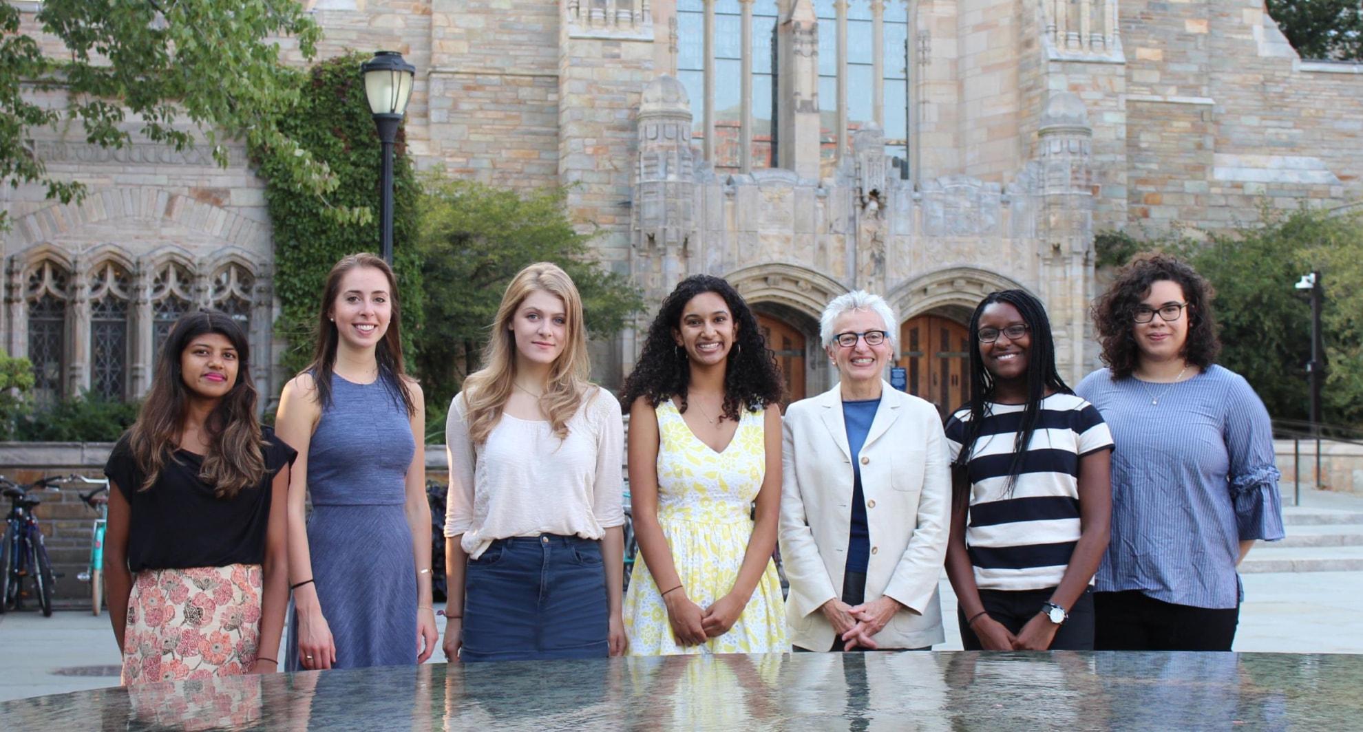 Undergraduate Fellows with Dr. Mazure