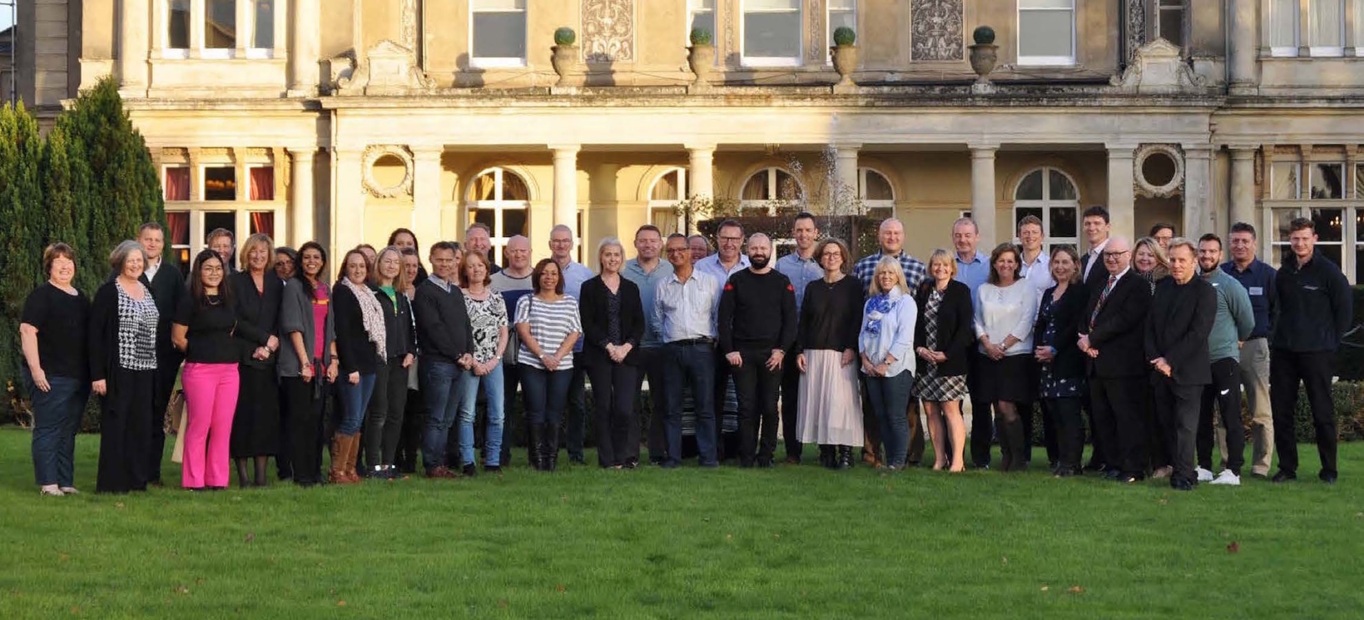 group photograph of clinicians and executives from the UK