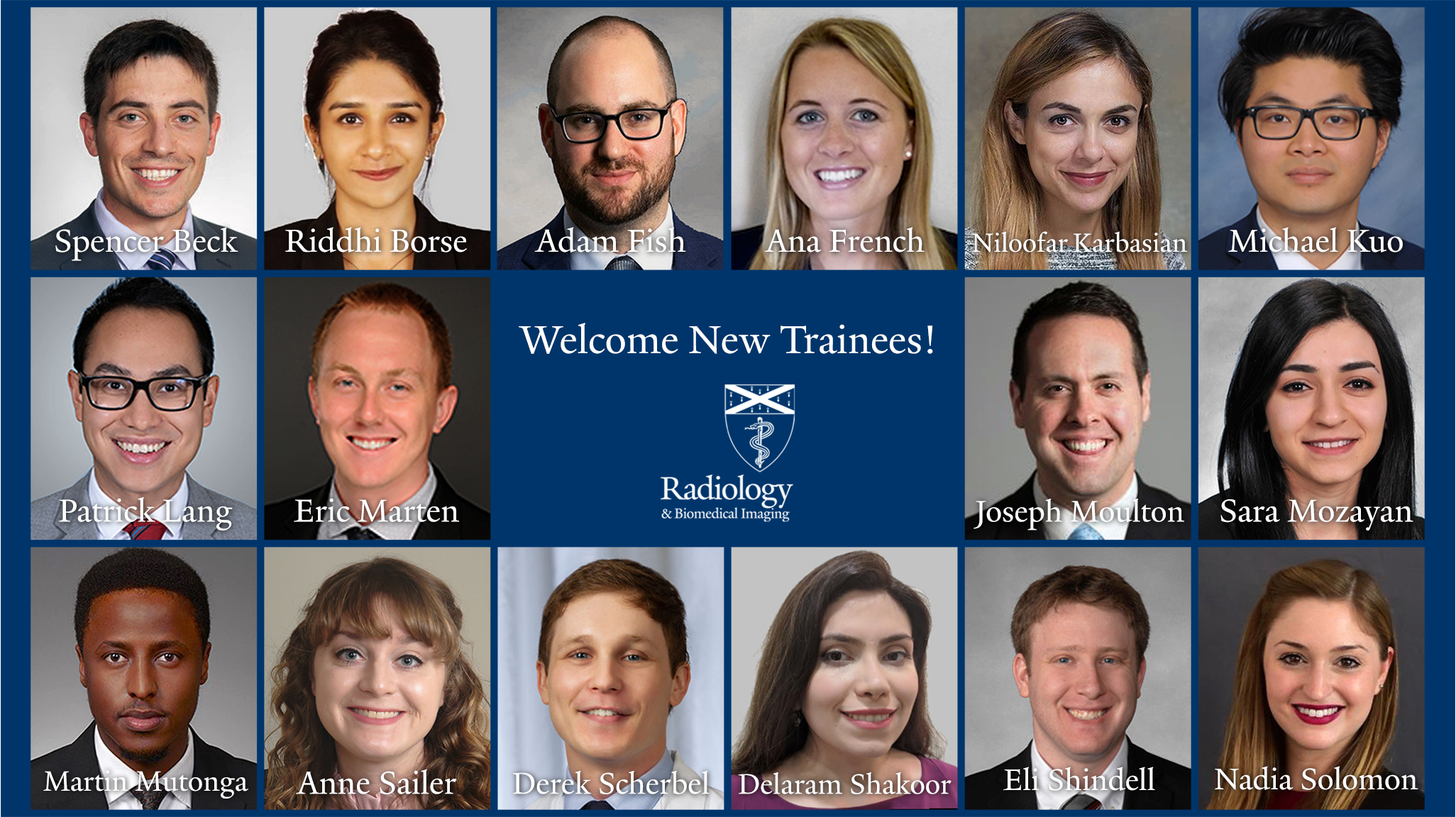 Yale Radiology's 2020 first-year class