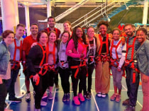 Group shot at the Ropes Course