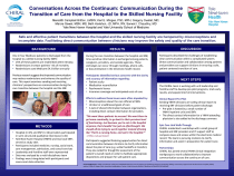 Conversations Across the Continuum: Communication During the Transition of Care from the Hospital to the Skilled Nursing Facility