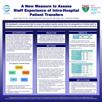 A New Measure to Assess Staff Experience of Intra-Hospital Patient Transfers