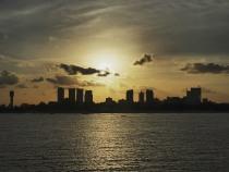 Sunset over Dar Es Salaam, Tanzania