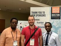 Drs. Erick Mbuguje, Fabian Laage Gaupp, and Ivan Rukundo at WCIO 2018 in Boston