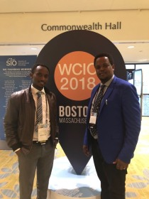 Drs. Ivan Rukundo and Erick Mbuguje at WCIO 2018 in Boston