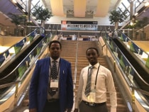 Drs. Erick Mbuguje and Ivan Rukundo at WCIO 2018 in Boston