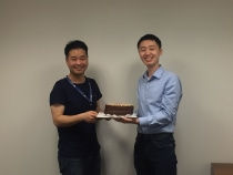 Yuanbin's and Yimeng's award celebration - thank you for the cake!