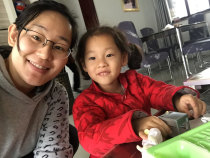Xiaoying is happily home after a wonderful year!