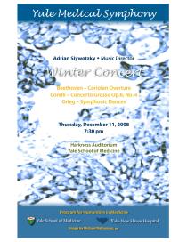 Yale Medical Symphony: Winter 2008