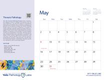 Yale Pathology Labs Calendar 2021 - May - Thoracic