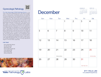 Yale Pathology Labs Calendar 2021 - December - GYN Pathology
