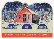 "The March of Dimes campaign allowed anyone to make a contribution. In the 1940s the campaign used a ""dime card"" for collections."