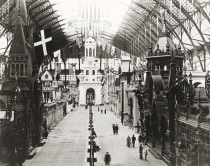 Above: The interior of the exhibition hall.