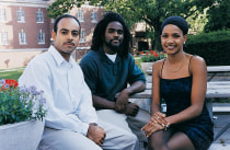 Elvis Rodriguez, Wesley Chambers and Happy Wyche were among the SMEP students at Yale last summer.