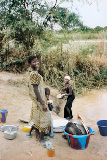 Without clean water and sanitation, the river becomes kitchen, laundry and bathroom, promoting an ongoing cycle of infection and reinfection.