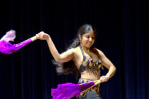 Medical student Nicole McNeer, a member of the Yale Belly Dance Society, at the Grannum Jamboree.