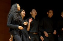 Members of the Yale Gospel Choir at the Grannum Jamboree.