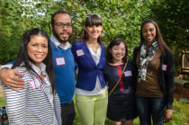 Carla Marin, associate research scientist at the Child Study Center; her fiance Anthony Jones; Giselle Gutierrez, a predoctoral fellow at the Connecticut Mental Health Center; Hanako Shishido, a predoctoral fellow in psychiatry; and Katrina Roundfield, a predoctoral fellow in psychiatry.
