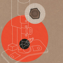 electron microscope illustration