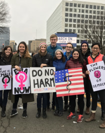 Yale medial students were among the hundreds of thousands who marched in Washington, D.C., on January 21 in support of human rights.