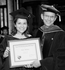 Diane Martinez received a dean's prize for outstanding thesis from Dean Paul Cleary.