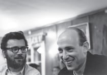 Tom Steitz, left, and the late Yale faculty member Paul Sigler attended a scientific meeting in Herschlag, Austria, in 1968.