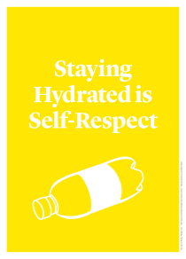 Staying Hydrated is Self-Respect